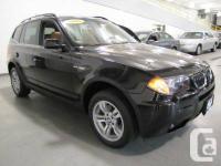 2007 BMW X3 3.0i Manual, Jet Black on Terracotta Nevada