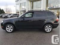 Make BMW Model X3 Year 2007 kms 108950 Trans Automatic