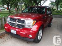 Truly great Dodge Nitro 4x4, Red crystal layer with two