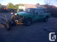 2007 Ford 350 diesel crew cab with 8ft v-plow 4x4