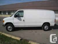 2007 FORD E250, Econoline Cargo van, white, lots of