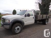 2007 Ford XLT F-550 4X4 14' Flatdeck Diesel, 6 spd
