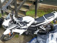 Great black and white 2007 Honda CBR 125. Only 1483