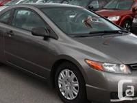 2007 Honda Civic DX-G Coupe  This 2007 Honda civic is a