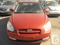 Make  Hyundai   Model  Accent   Trim  2DR   Year  2007