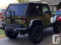 Make Jeep Model Wrangler Year 2007 Colour Green kms