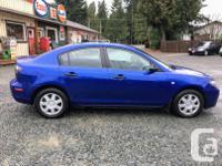 Make Mazda Model 3 Year 2007 Colour Blue kms 200000