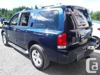 Make Nissan Model Armada Year 2007 Colour Blue kms