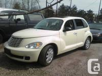 2007 PT Cruiser Pearl White, loaded and lady driven.