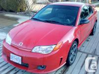 Make Saturn Model Ion Quad Coupe Year 2007 Colour Red