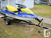 2007 Seadoo GTI SE, cover and EZ Loader trailer.   Only