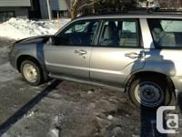 2007 Subaru Forester, all wheel drive, manual trans, XS