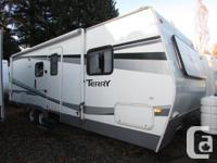 This is a great family trailer with rear bunks, front