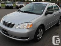 2007 TOYOTA COROLLA CE 1.8L 4 Cylinder 4 DR SEDAN ONLY
