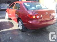 Make Toyota Model Corolla Year 2007 Colour red kms