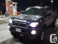 up for sale very nice black lifted 2007 tacoma. sr5,