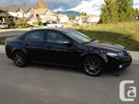 2008 Acura TL Type S 6spd manual, black, two tone