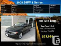 2008 BMW 1 Series 2dr Conv 128i     Engine: