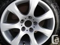 """For sale is a set of four 17"""" wheels and 5 tires from a"""