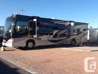 This coach has it all. 40 ft., 4 slides, diesel engine,