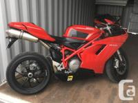 Make Ducati Year 2008 kms 17984 Immaculate Ducati 848