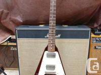 Used, 2008 Epiphone Flying V in cherry red.  This guitar is a for sale  Ontario