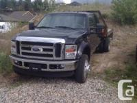 2008 Ford F450 Lariat, black with natural leather tan