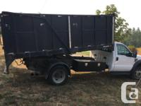 2008 ford 550 complete with 14' dumpbox , Automatic6.4l