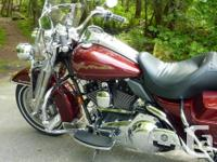 2008 Harley Davidson Road King FLHR....Crimson Red.