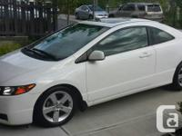 2008 White Honda Civic coupe, with black leather
