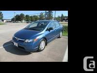Make Honda Model Civic Sedan Year 2008 Colour Blue kms