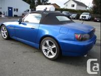 Make Honda Model S2000 Year 2008 Colour Blue kms 63498