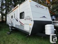 32 foot Jayco Jayflight trailer available. Has 2