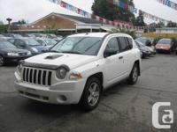 2008 Jeep Compass, White, 4 Cylinder, 2.4L, 4X4, Local,