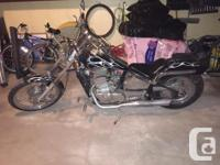 For sale, 2008 Johnny Pag Spider Motorcycle. Less then