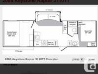 2008 Keystone Raptor toy hauler trailer -Model 31 ft