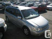 2008 KIA SEDONA, SILVER ON GRAY CLOTH INTERIOR, PWR