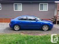 Make Mazda Model 3 Year 2008 Colour blue kms 120000