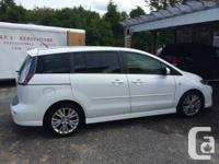 2008 Mazda 5 GT Automatic in the desirable white shade,