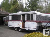 2008 fleetwood avalon highlander 4249 tent trailer in & MINT 2008 FLEETWOOD AVALON Coleman tent trailer 16ft box fully ...