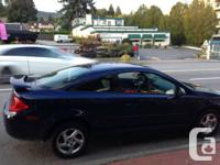 Pontiac G5 Coupe, Automatic, blue exterior with highway