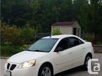 Make. Pontiac. Model. G6. Year. 2008. Colour. White.