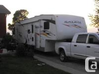 2008 Forest River Salem 356SRV Toy Hauler Fifthwheel.