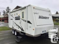 Well cared for Hybrid travel trailer. All the space of