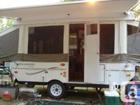 2008 12 feet box Rockwood Tent Trailer for Rent. In