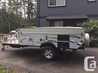 Very well maintained off road pop up trailer with toy