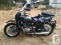 2008 Ural Gear Up Patrol Tourist Motorcycle with