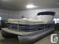 2009 Aqua Patio model 220BC 22' Pontoon Boat w/ 2010