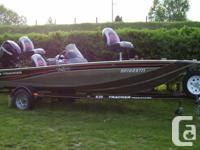 2009 BASS TRACKER V-HULL WITH 50 HP MERCURY 4 STROKE