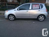 Make Chevrolet Model Aveo5 Year 2009 Colour SILVER kms